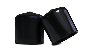 """4 Pack - 1"""" Black Vinyl Round End Cap 1.0 Rubber Cover Pipe Tubing Stopper"""