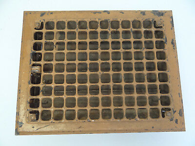 Vintage Used Slat Metal Square Floor Vent Grate Architectural Hardware Salvage