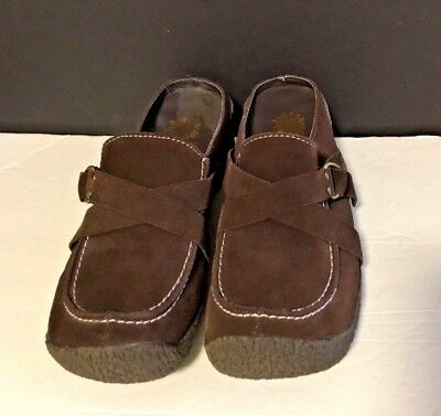 786cfe76644 YELLOW BOX BROWN Slip On Brown Suede Women s Size 6 Clogs Mules ...