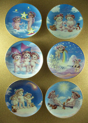 Plate Set of 6 DREAMSICLES Starboats Ahoy Magic Wishing Upon a Star Heavenly +++