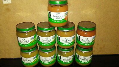NEW! Lot of 9 Beechnut classic Stage 2 baby food Jars - FREE SHIPPING!