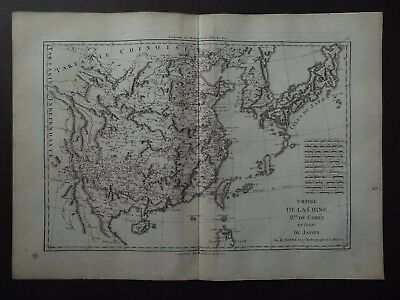 1787 BONNE  Atlas map CHINA - COREE - JAPAN - Empire de la Chine Japon Korea