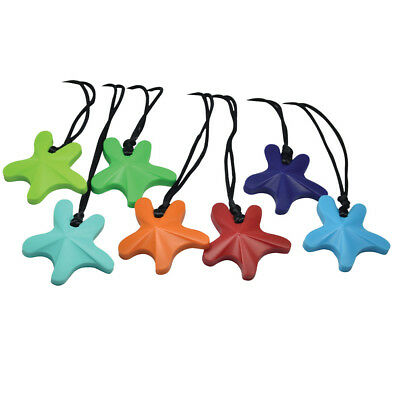 Child Adult STARFISH Necklace for SEN Autism ADHD Chew Biting Sensory Relief