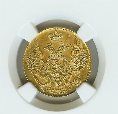 Russia 1839-Cnb Ay Gold 5 Roubles Ngc Ms62 Looks 63+!  Rare Date!