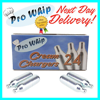 8g Whipped ✶ Cream Chargers ✶ Pure Nitrous Oxide N2O NOS Canisters X 24