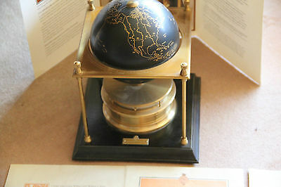 Royal Geographical Society World Clock Swiss Made IMHOF 15 Jewels Vintage 1980