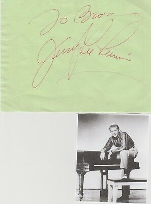 Jerry Lee Lewis signed album page!