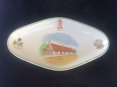 Glasgow Scottish 1938 Empire Exhibition WH GOSS Trinket Dish 4 Burns Cottage Ayr