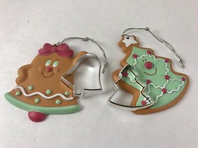 Avon Cookie Cutter Cuties Ornaments Christmas Tree Bell Gingerbread