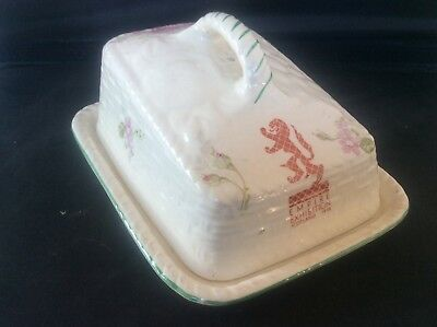 Glasgow Scottish 1938 Empire Exhibition WH GOSS Floral Design Butter Dish 12
