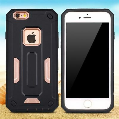 New Armor Hard Case Cover For Apple iPhone 6/6s + screen protector rose gold
