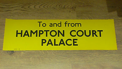 London Transport Routemaster Bus Slipboard Poster TO & FROM HAMPTON COURT PALACE