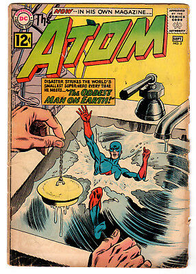 The Atom #2 DC Comics (Sept 1962) - Poor Condition