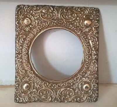 Antique Edwardian Solid Silver Repousse Picture Frame Mount By S. M Levi - 1903
