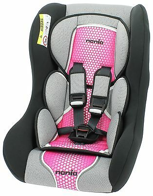 Nania Trio Car seat Group 0-1-2 From Birth 0-25kg Forward & Rear Facing Pop Pink
