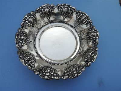 SIGNED ASIAN INDONESIA JAVA JOGIA SOLID SILVER 800 TEA DISH BOWL 155 gr 5.4 OZ