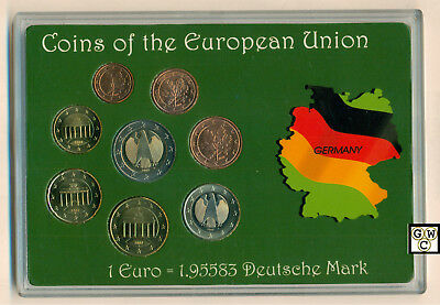 2002 - 8 Coins set of the European Union ( Germany ) (OOAK)
