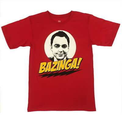 The Big Bang Theory BAZINGA! Sheldon Cooper T-Shirt - UNISEX RED - Licensed