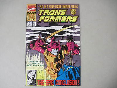 The Transformers #80 July 1991 Marvel Comics Last Issue!