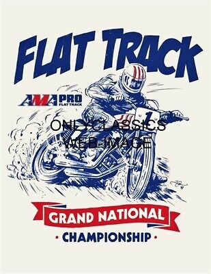 60's AMA GRAND NATIONAL FLAT TRACK MOTORCYCLE RACING POSTER PRINT GREAT GRAPHICS
