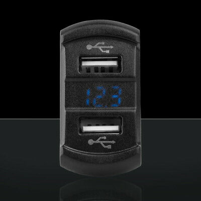 Dual USB with Voltage fits Carling Rocker Switch Charger
