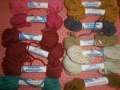 26  skeins SEMCO GOBELIN WOOL FOR TAPESTRY AND CREWEL EMBROIDERY