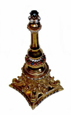 "Russian ""Tsargold Jewelry"" Silver Gold Kings Bell 9,5 Carat Diamonds Sapphires"