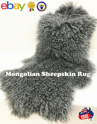 Real Fur Mongolian Sheepskin Lambskin Rug Multiple Colours  Promotion !
