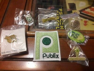 Publix Super Markets pins & patch lot Rare