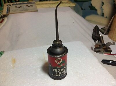 1950' Texaco Home Lubracant oil can 3 oz