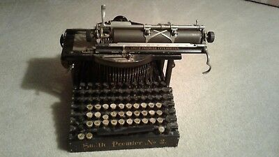 Smith Premier No. 2 Typewriter from circa 1899. Needs adjusting & cleaning