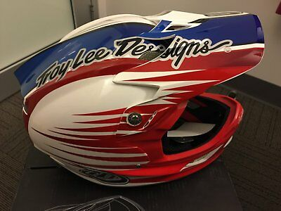 Troy Lee Designs (TLD) D3 Carbon MTB DH Helmet red/white/blue 2 red XX large