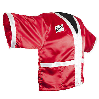 0e60a0b1cc CLETO REYES SATIN Boxing Robe with Hood - Red White -  54.50