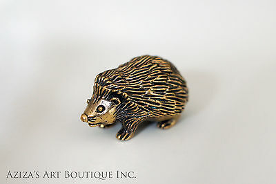 Solid  Bronze Hedgehog Miniature by N.Fedosov.