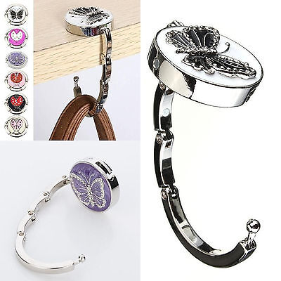 Newly Sale Handbag Alloy Hook Butterfly Round Folding Purse Holder Table Hanger