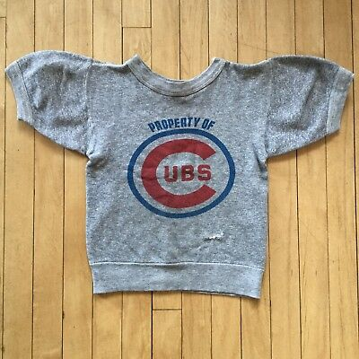 Vintage kids Chicago Cubs Baseball Sweatshirt Youth Size 60s 70s Wrigley Field