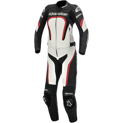Alpinestars Stella Motegi 2015 Womens 2-Piece Leather Suit Black/White/Red
