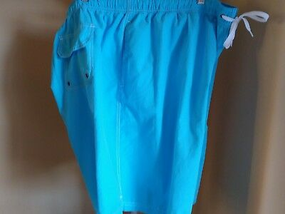 Men's Swim Trunks Round Tree Size 3Xb New With Tags Ocean Blue With 4 Pockets