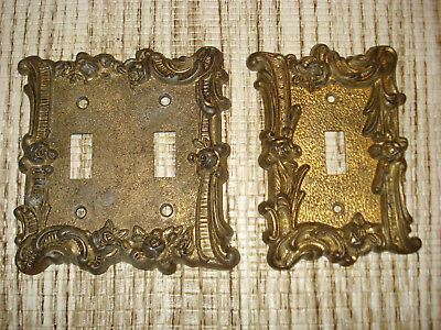 Vintage EDMAR Double--& SINGLE Light Switch-Cover Plate.