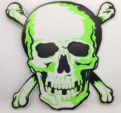 Large Vintage Die Cut Halloween Skull & Crossbones Decoration - NOS (1950's)