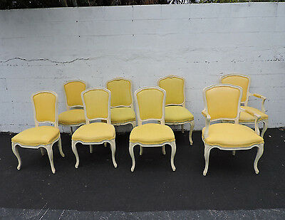 Set of Eight French Dining Room Chairs 8439