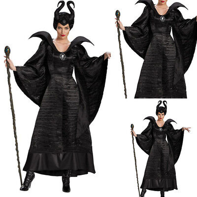 Women Medieval Vintage Solid Color Halloween Gothic Cosplay Costume Dress M-XL