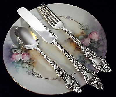 1847 Rogers Bros COLUMBIA Pattern ~ 3 Pc Youth Flatware Set ~ 1893 ~ Scarce!