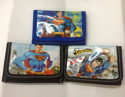 Cool Superhero Superman Boys Kids Cartoon Purse Coins Wallet Xmas Gift