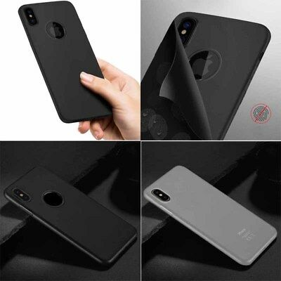 Ultra TPU Thin PC Case Cover Protector Matte Hard For iPhone X Polished Bumper
