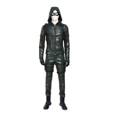 Green Arrow Season 5 Oliver Queen Cosplay Coat Just the Sleeveless Hooded Vest