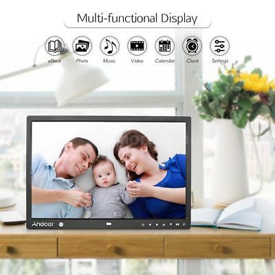 """Andoer 15"""" TFT-LED HD Digital Photo Picture Frame Album Video Player Gift Q9F2"""