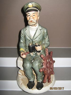 Ceramic figurine old man captain sitting size 235 mm in height/heavy ex/cond .