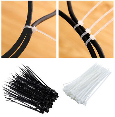 100 Pcs Cable Zip Ties UV Weather Resistant Nylon Resistant Wrap Zip Ties Pack