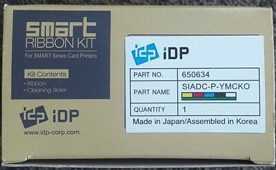 IDP Smart ribbon kit, YMCKO 250prints Part No 650634
